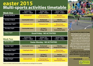 Easter Multi-Sports Activities 2015-2