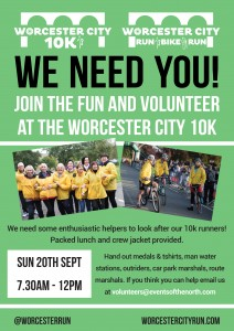 Worcester 10k Volunteer Poster
